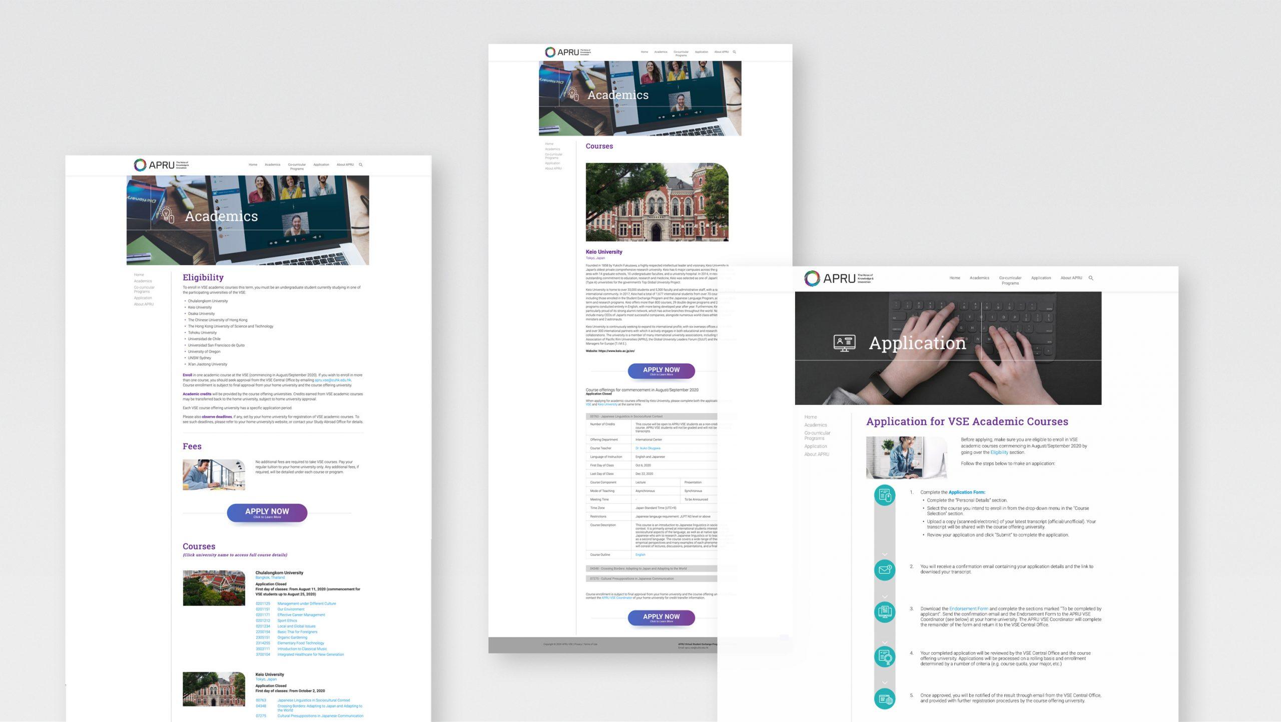CUHK APRU Website