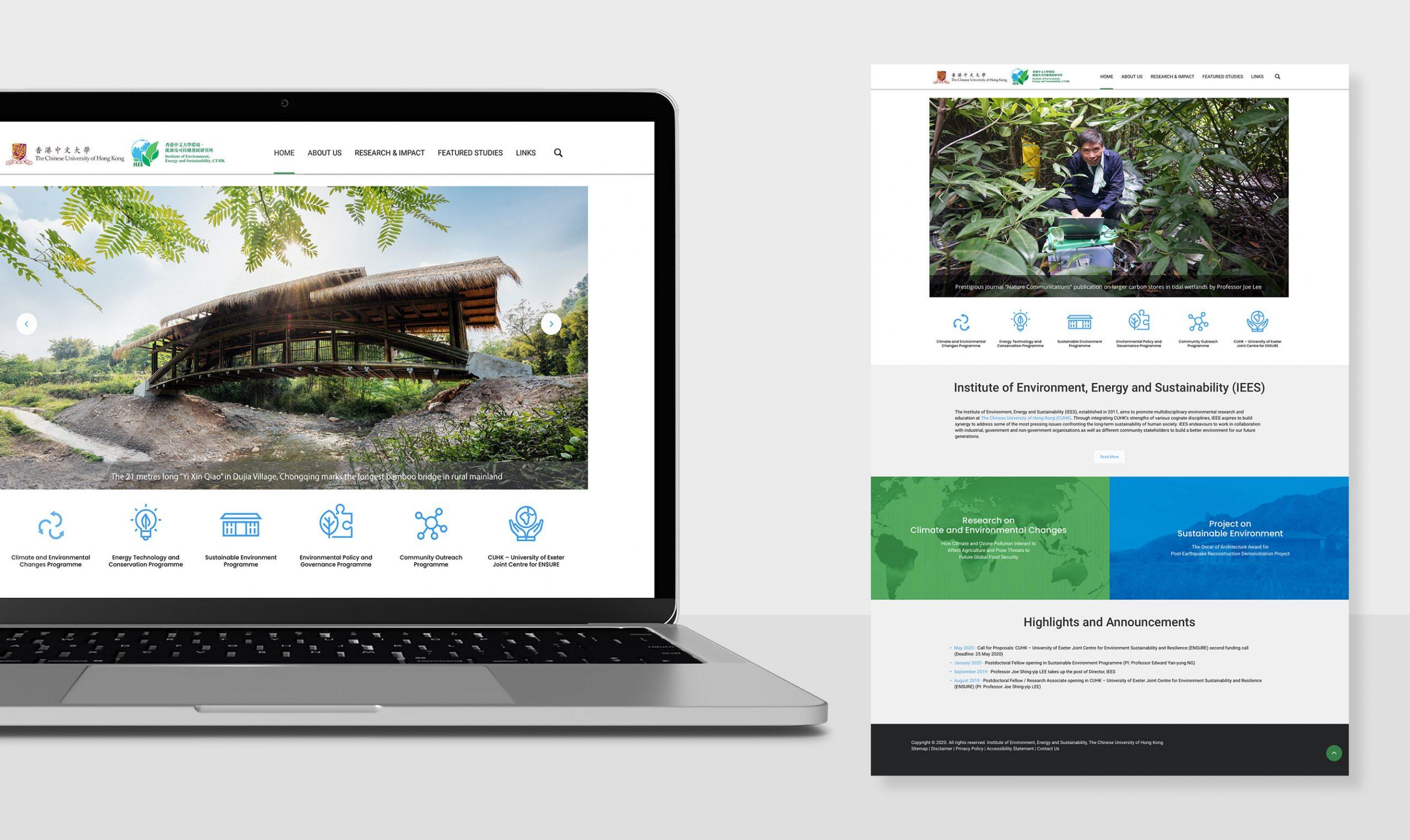CUHK IEES Website